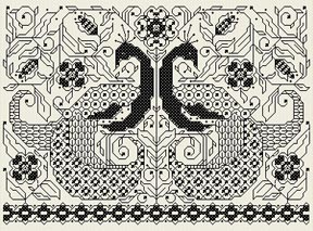 Blackwork Birds copyright Joan A. Elliott